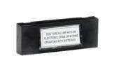 Byron beldrukknop met naamplaat verlicht 7740 zwart