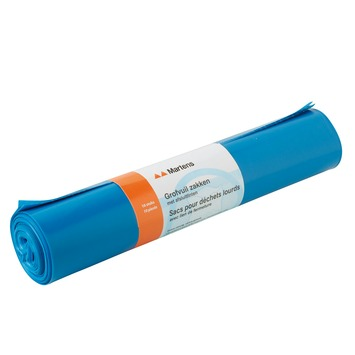 Sac pour déchets lourds bleu 10 pcs