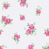 Superfresco Easy vliesbehang romantische bloemen roze 32-601 10 m x 53 cm