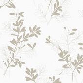 Superfresco easy gekleurd vliesbehang dessin bloem taupe/wit 32-600 10 m x 52 cm