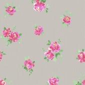Superfresco Easy vliesbehang romantische bloemen taupe 32-602 10 m x 53 cm