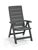 Chaise réglable Brasilia Allibert graphite 2 pièces