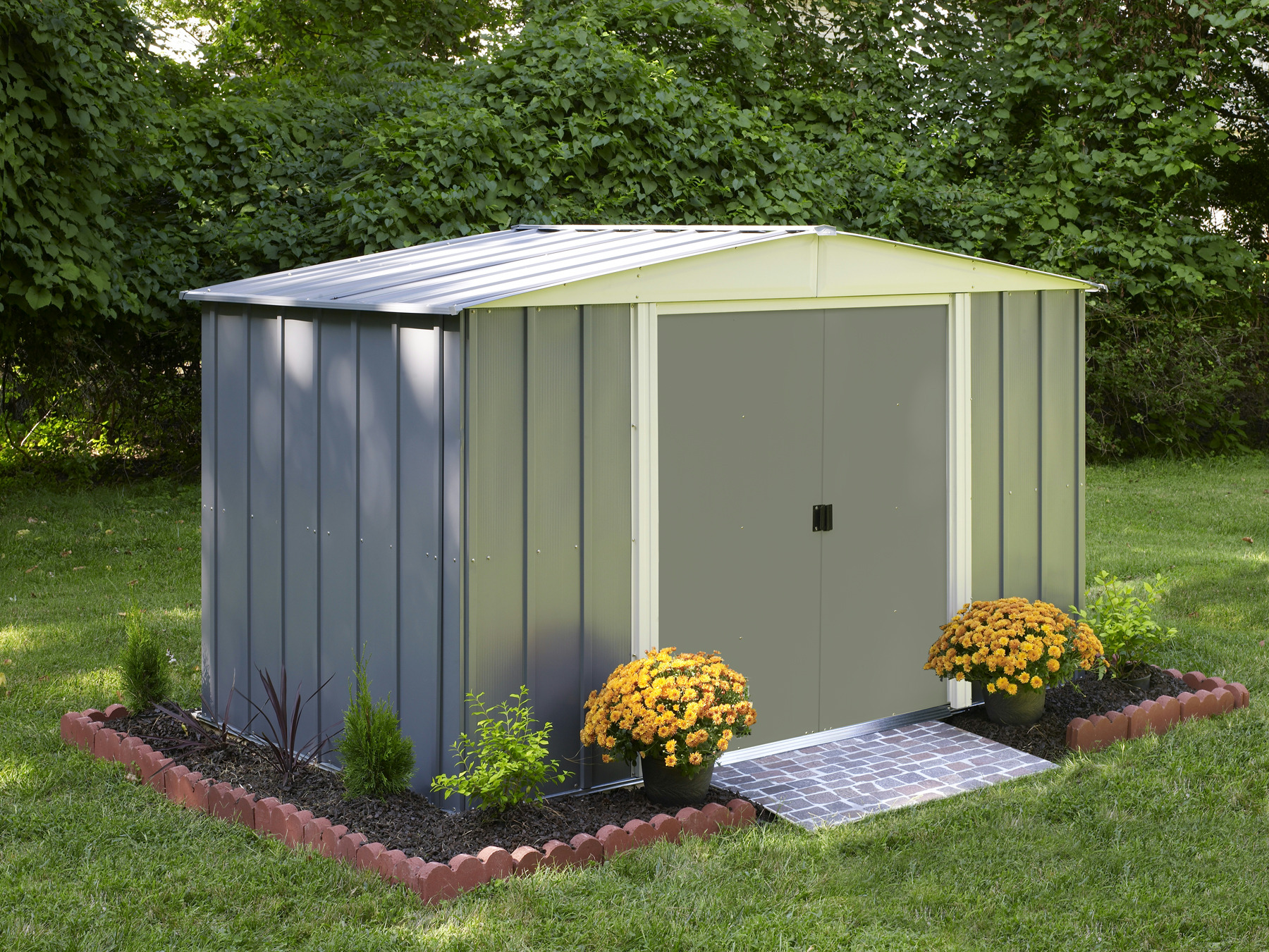 Abri de jardin en acier lm 106 arrow cabanes de jardin for Abri de jardin acier