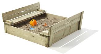Bac sable en pin cupcake 120x120x28 cm jeux de jardin - Bac a sable pour piscine ...
