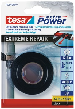Tesa Extra power extreme repair tape 2,5 m x 19 mm zwart