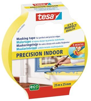 Tesa afplaktape voor binnen 25 m x 25 mm 2 stuks