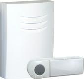 Byron draadloze deurbel en drukknop B401E wit - bereik 75 m