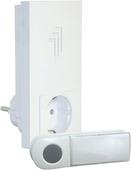 Smartwares draadloze deurbel plug-thru en drukknop B421E wit - bereik 50 m