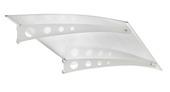 Auvent de porte translucide 140x90 cm blanc