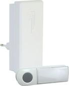 Byron deurbel met drukknop draadloos 50 meter wit