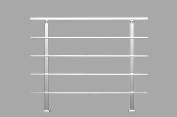Sogem Square Primo borstwering 120 cm aluminium