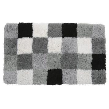 GAMMA badmat zwart/grijs blok 60x90 cm
