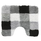 Gamma toiletmat zwart/grijs blok 60x50 cm
