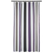 Rideau de douche Paris Gamma 180x200 cm tissu violet
