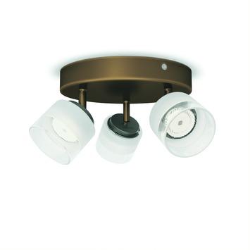 Plafonnier 3 spots Fremont Philips LED intégré 4W = 31W bronze