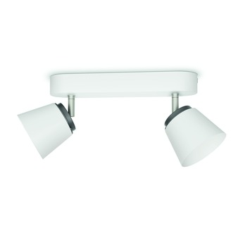 Support 2 spots Dender Philips LED intégré 4W = 31W blanc