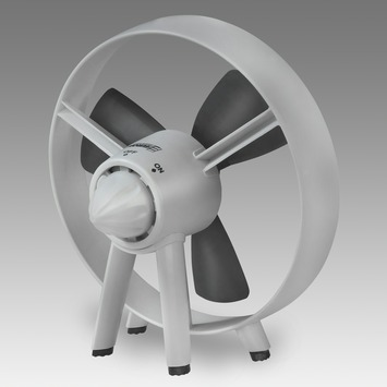 Ventilateur de table Safe-blade 20 cm blanc