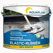 Aquaplan Elastic Rubber dakcoating waterdicht 10 kg + 2 kg
