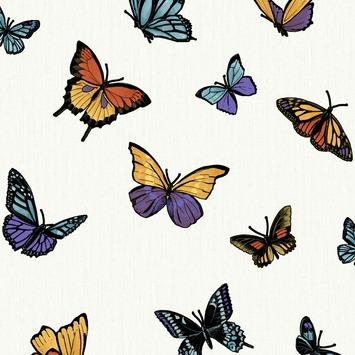 Papier peint intissé Graham & Brown Easy motif papillon blanc 31-175 10 m x 52 cm