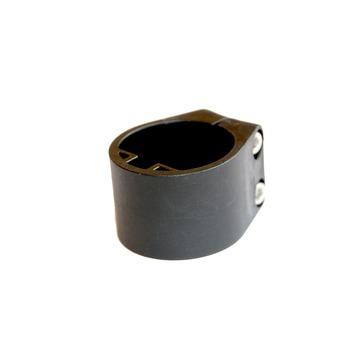 Midden- of eindklem voor profielpaal 48 mm ral 9005 zwart