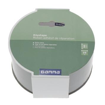 GAMMA klustape 25 m x 50 mm grijs