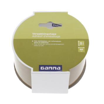 Ruban d'emballage GAMMA brun 50 mm 66 m