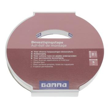 Adhésif de montage GAMMA 19 mm 5 m