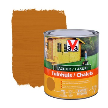 V33 beits tuinhuis zijdeglans lichte eik 750 ml