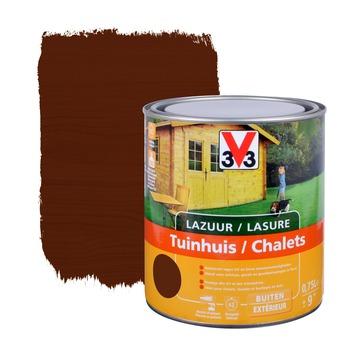 V33 beits tuinhuis zijdeglans donkere eik 750 ml