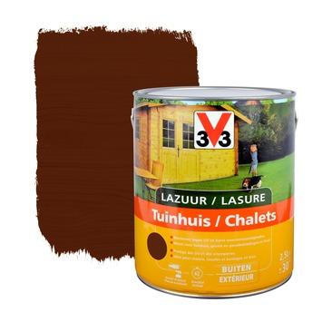 V33 beits tuinhuis zijdeglans donkere eik 2,5 L