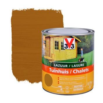 V33 beits tuinhuis zijdeglans midden eik 750 ml