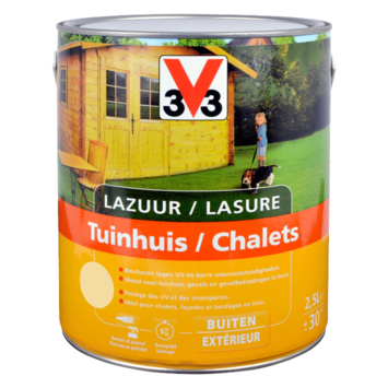 V33 beits tuinhuis zijdeglans kleurloos 2,5 L