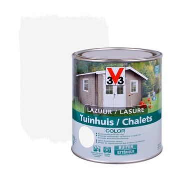 Lasure chalets color V33 satin ice white 750 ml