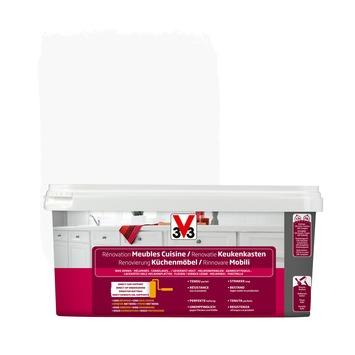 V33 renovatieverf keukenkasten zijdeglans wit 2 L