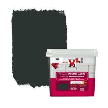 Peinture de rénovation meubles cuisine V33 satin noir réglisse 750 ml