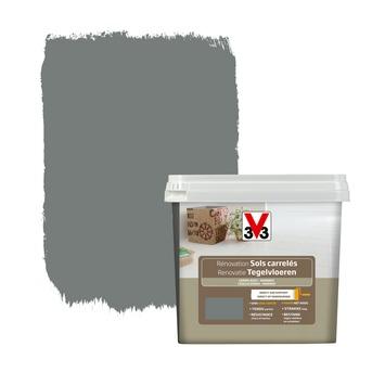 Peinture de rénovation sols carrelés V33 satin carbonate 750 ml