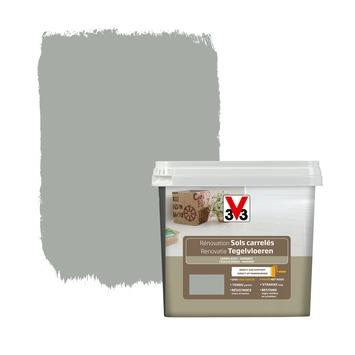 Peinture de rénovation sols carrelés V33 satin titane 750 ml