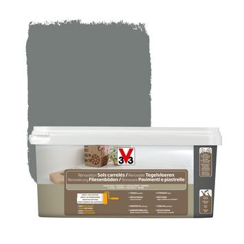 Peinture de rénovation sols carrelés V33 satin carbonate 2 L
