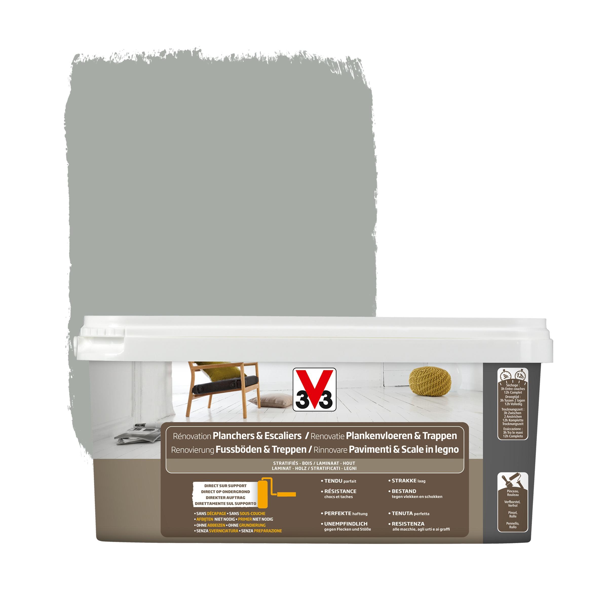 peinture de r novation planchers escaliers v33 satin titane 2 l peintures sp ciales papier. Black Bedroom Furniture Sets. Home Design Ideas