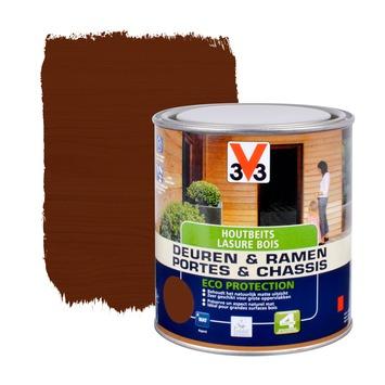 V33 Ramen & Deuren Eco Protection beits mat donkere eik 750 ml