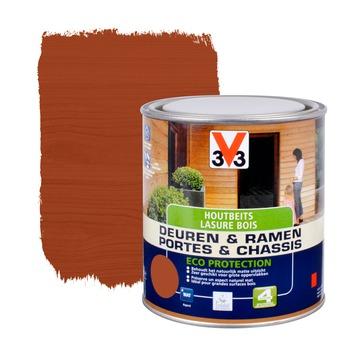 V33 Ramen & Deuren Eco Protection beits mat mahonie 750 ml