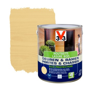 V33 Ramen & Deuren Eco Protection beits mat naturel 2,5 L