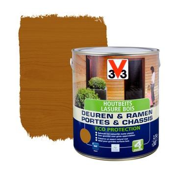 V33 Ramen & Deuren Eco Protection beits mat midden eik 2,5 L