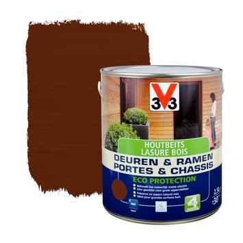 V33 Ramen & Deuren Eco Protection beits mat donkere eik 2,5 L