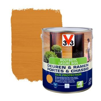 V33 Ramen & Deuren Eco Protection beits mat teak 2,5 L