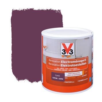 V33 renovatieverf elektrotoestellen zijdeglans cassis 500 ml