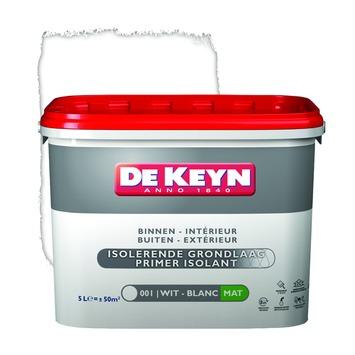 De Keyn primer muur en plafond isolerend 001 wit 5 L
