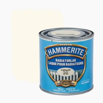 Hammerite radiatorverf zijdeglans RAL9010 gebroken wit 250 ml