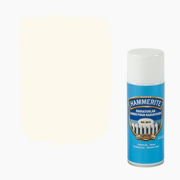 Laque pour radiateur en aérosol Hammerite satin 400 ml RAL9010