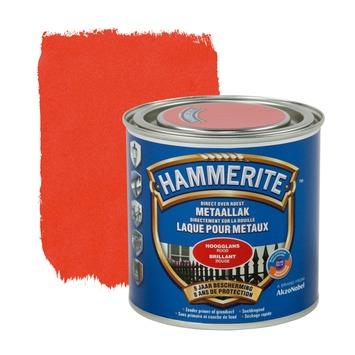Hammerite metaallak hoogglans rood 250 ml